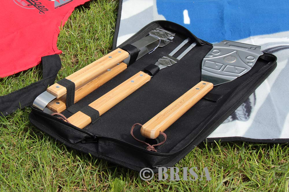 VW Collection by BRISA VW T1 Bus BBQ 3-pc Utensil Set with Carrying Case