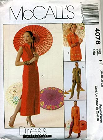 McCall \'s Oriental Kleid, Jacke, Duster, Top, Hosen Schnittmuster ...