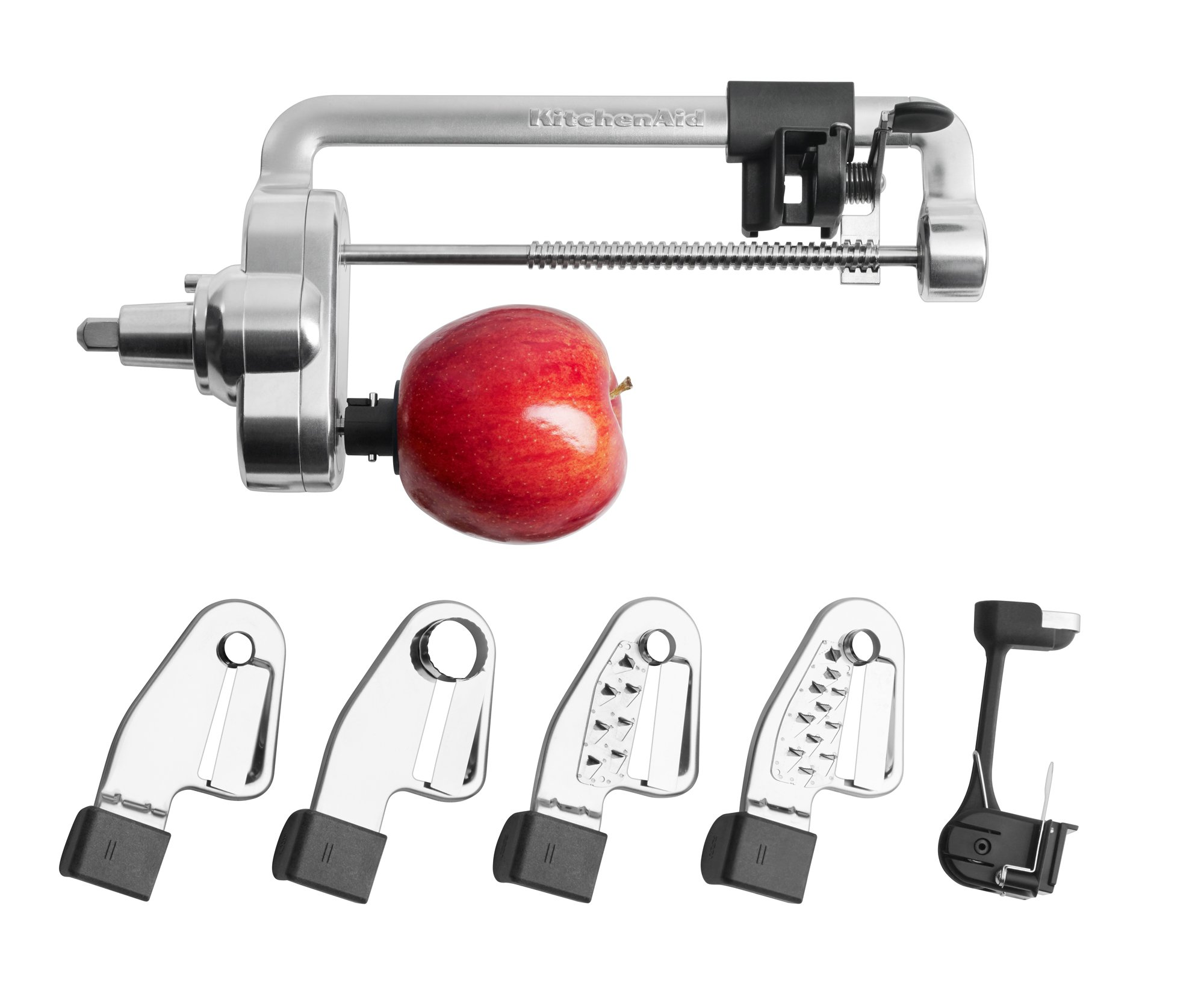 """KitchenAid KSM1APC Spiralizer Attachment, 1"""", Silver"""