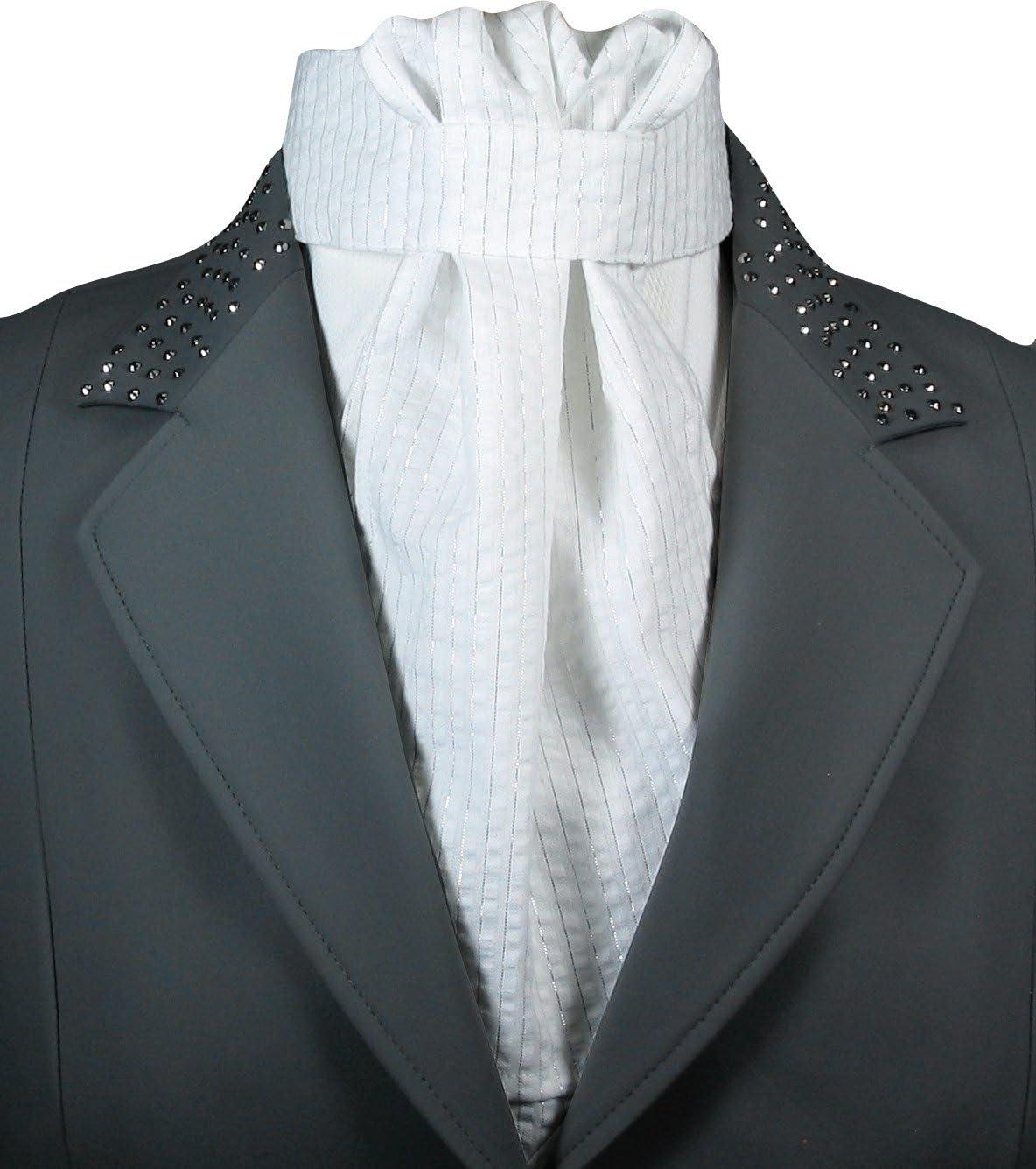 Equi LogicシルバースレッドStock Tie ホワイト/シルバー