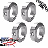 "5/8"" Bore Stainless Steel Shaft Collars Set Screw Style (4 PCS)"