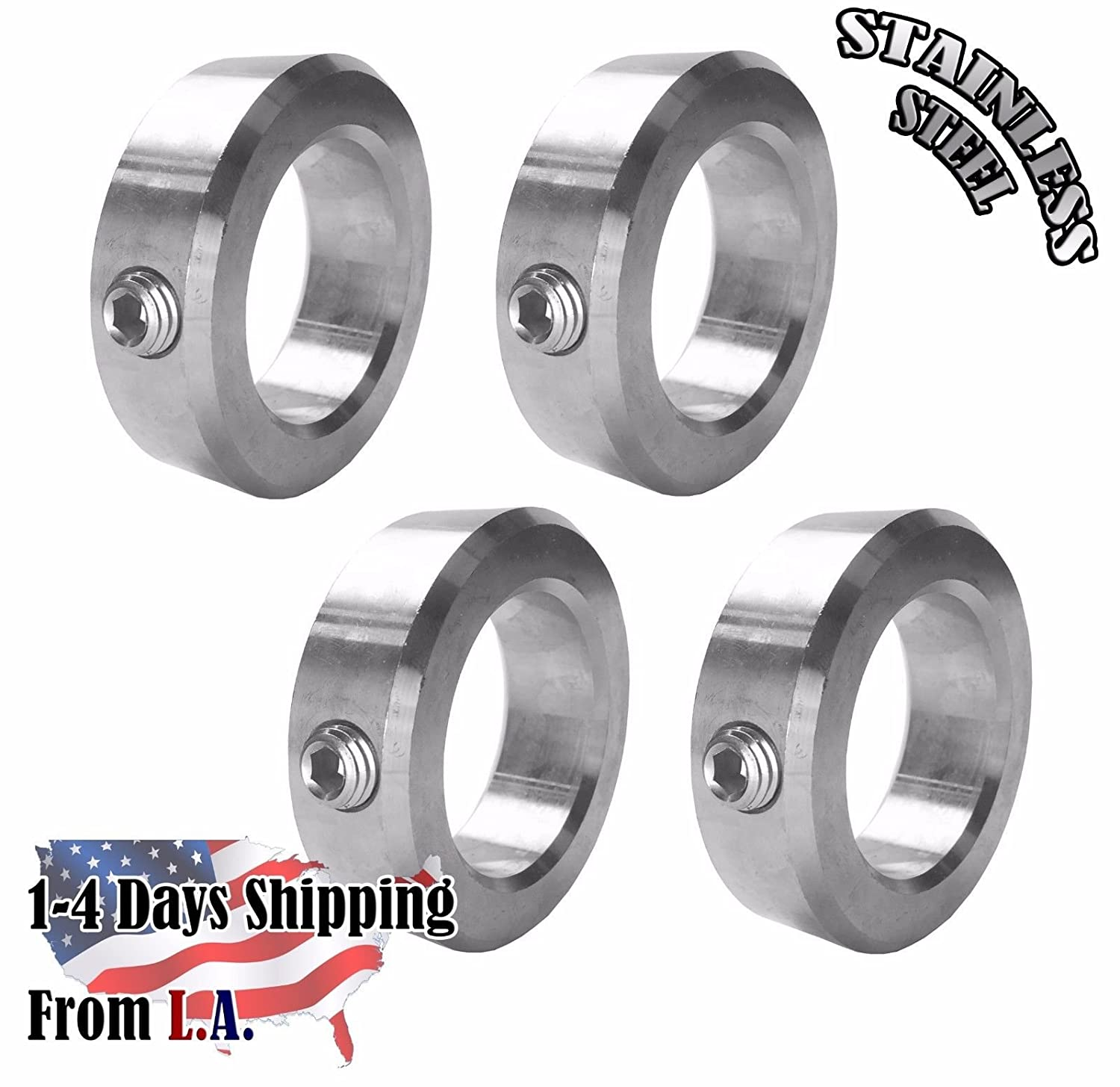 """1 Pc 1/"""" Bore Double Split Shaft Collar Stainless Steel"""