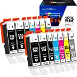 GPC Image Compatible Ink Cartridge Replacement for Canon 250XL 251XL PGI-250XL CLI-251XL to use with Pixma MX922 MG7520…