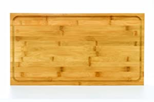 Camco Bamboo Stove Top Work Surface with Adjustable Legs & Built In Juice Groove- Covers Stove Top To Create Additional Kitchen Workspace -2 Burner (43547)
