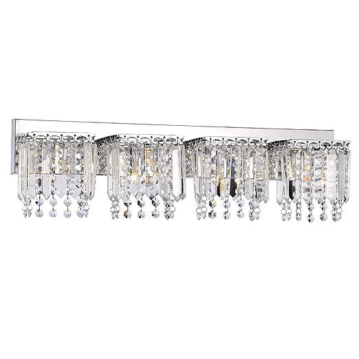 Amazon.com: Evelyn 4-Light Crystal Strand – Aplique de pared ...