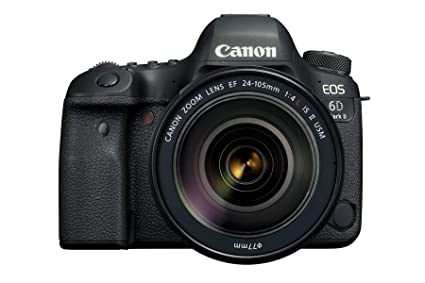 Canon EOS 6D Mark II 26 2MP Digital SLR Camera with EF24-105 mm f/4L is II  USM Lens