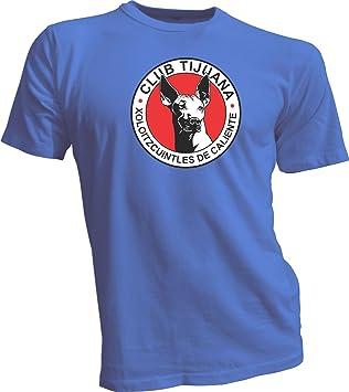 XOLOS TIJUANA MEXICO Futbol Soccer Xoloitzcuintles Blue T-SHIRT Camiseta NEW