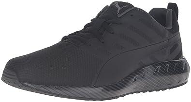 PUMA Men's Flare Stripes Running Shoe, Black/Asphalt, ...