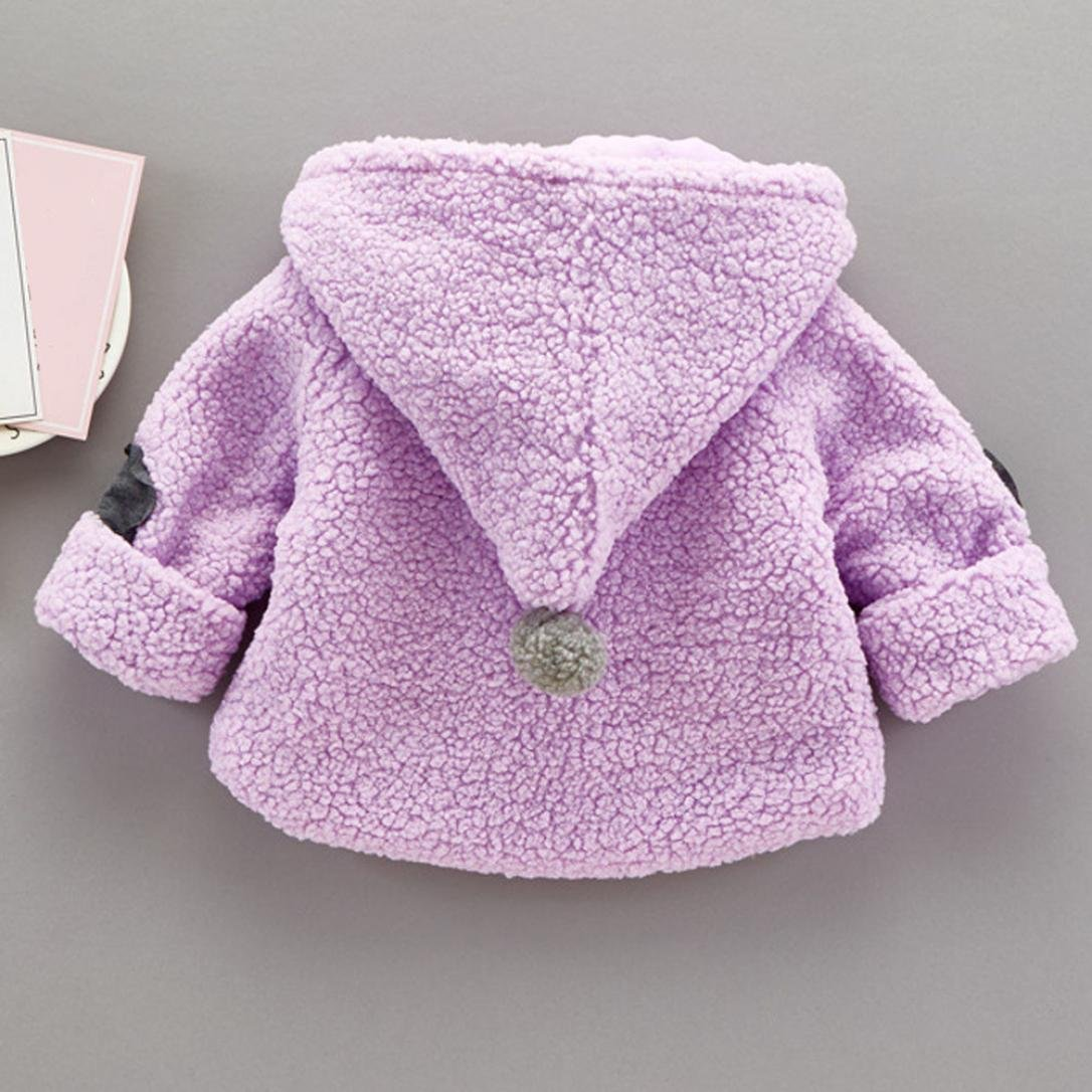 LNGRY Cute Baby Girl Autumn Winter Clothes Cotton Hooded Coat Thick Warm Outfits