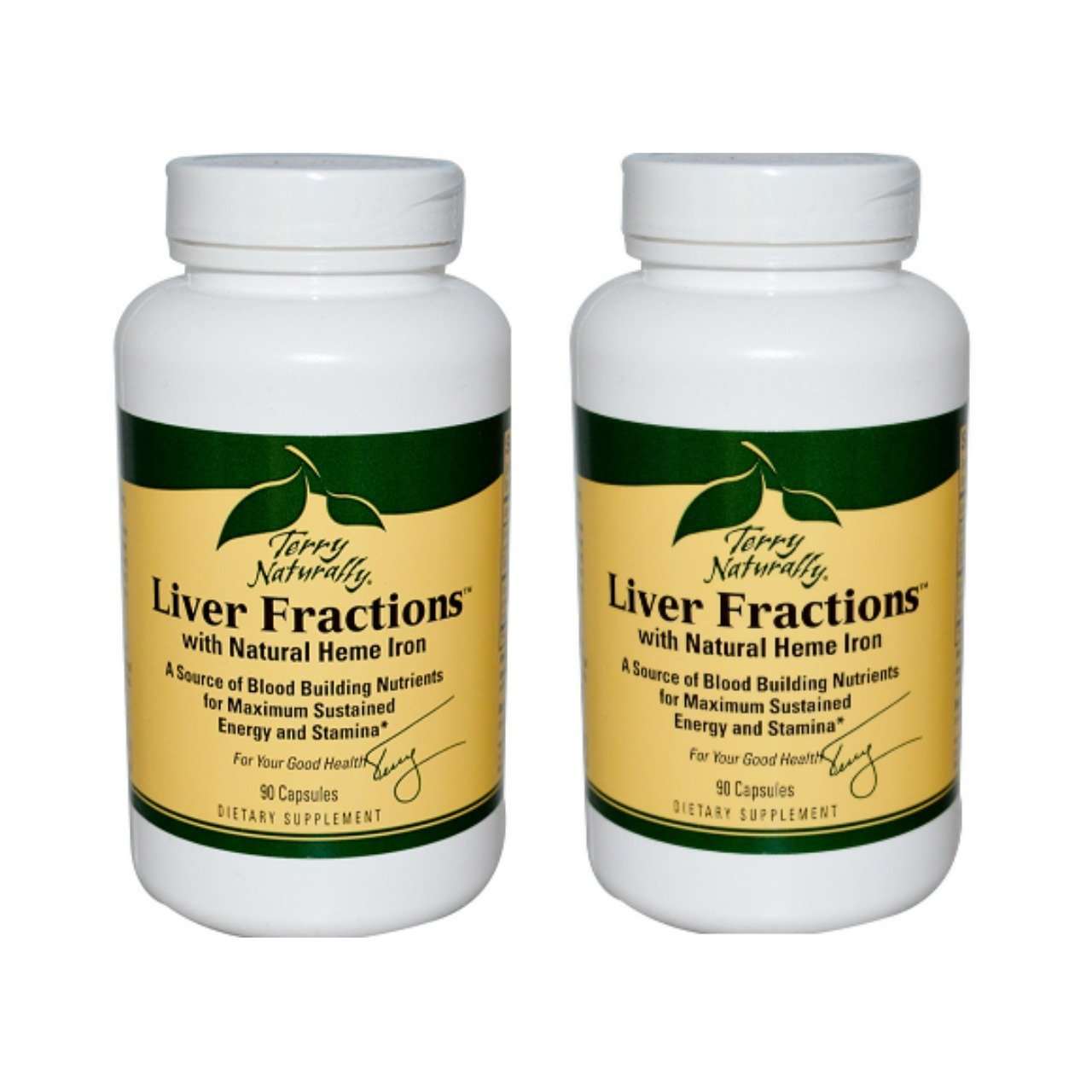 Terry Naturally EuroPharma Heme Iron from Liver Fractions, 90 Capsules -2 Pack