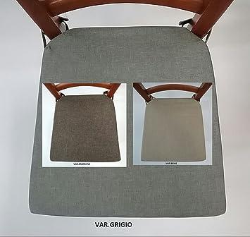 mauro Cuscini SEDIE Cucina Set 6 Pezzi Tessuto Idrorepellente E ANTIMACCHIA 3 Varianti Colore Sagomato con Zip Misura Cm 40X39X4 Laccetti