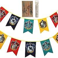 TPOTTER 12pcs[20X12CM] cumpleaños Banners y Banderas para Harry