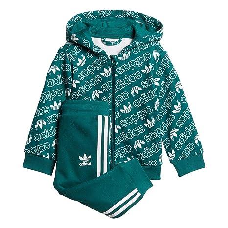 adidas DJ2699 Tuta Bambino Verde 9-12