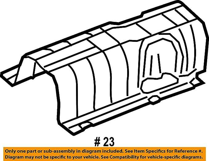 Amazon Com Jaguar Oem 10 15 Xk 5 0l V8 Exhaust Heat Deflector