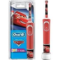 Oral-B Kids Oplaadbare Elektrische Tandenborstel Powered By Braun, 1 Handvat met Disney Pixar Cars, Voor Kinderen Vanaf…