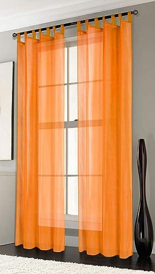 2er-Pack Gardinen Transparent Vorhang Set Wohnzimmer Voile ...