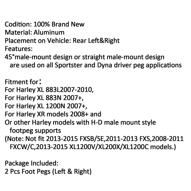 Artudatech Reposapi/és para motocicleta 1 par de piquetas de aluminio de 45/° para Harley Dyna Sportster 883 1200N