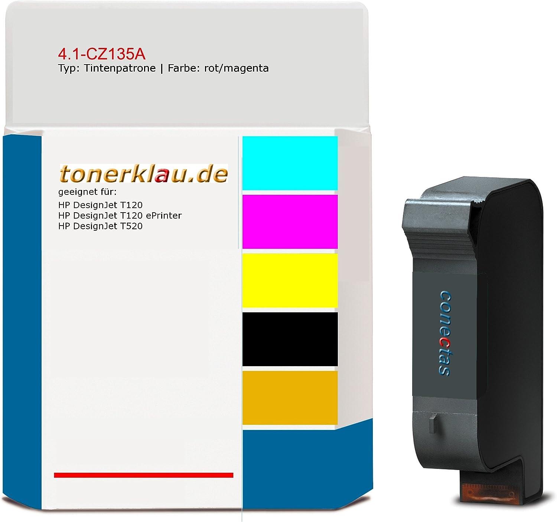 compatible Cartucho de tinta 4.1 de cz135 a para: HP Designjet T120 como repuesto para HP cz135 a/711: Amazon.es: Oficina y papelería