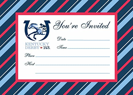 Amazoncom 2017 Kentucky Derby Party Invitations Sports Outdoors