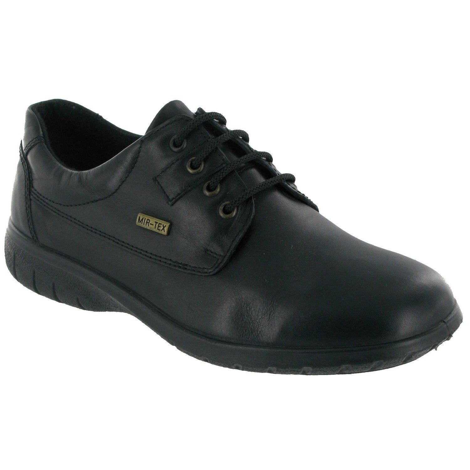Cotswold Ladies Ruscombe Black Waterproof Leather Lace up Shoe
