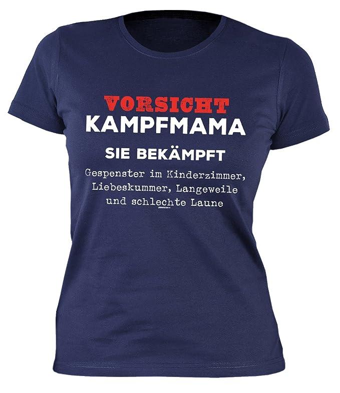 TITAGU Mama/Sprüche-Shirt/Spaß-Shirt: Vorsicht Kampfmama Sie ...