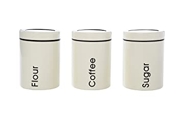 dry food containers coffee sugar u0026 flour containers set 3 piece set