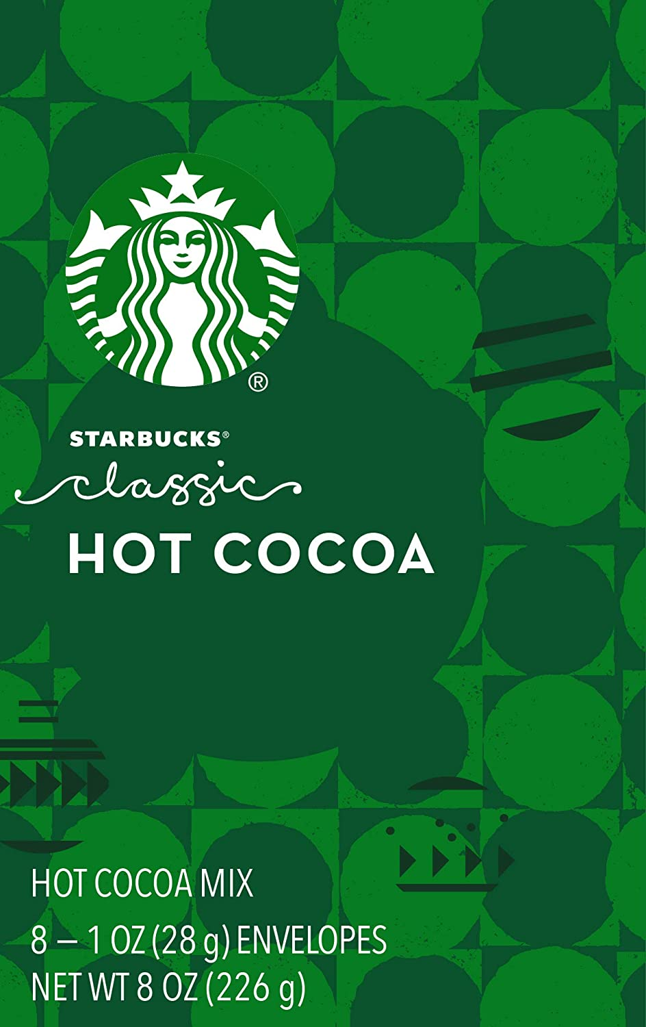 Starbucks Holiday Classic Hot Cocoa Mix, 1 Ounce Packets, 8 Count, Pack of 2