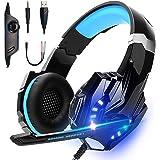 LonEasy Auriculares para Juegos, Auriculares para Juegos con Aislamiento de Ruido con Cable de, Control del Volumen audifonos