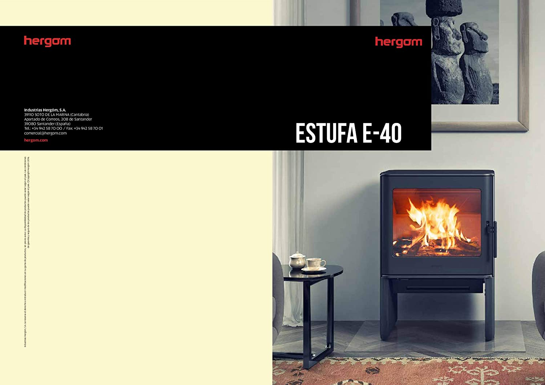 ESTUFA DE LEÑA HERGOM MODELO E-40: Amazon.es: Bricolaje y ...