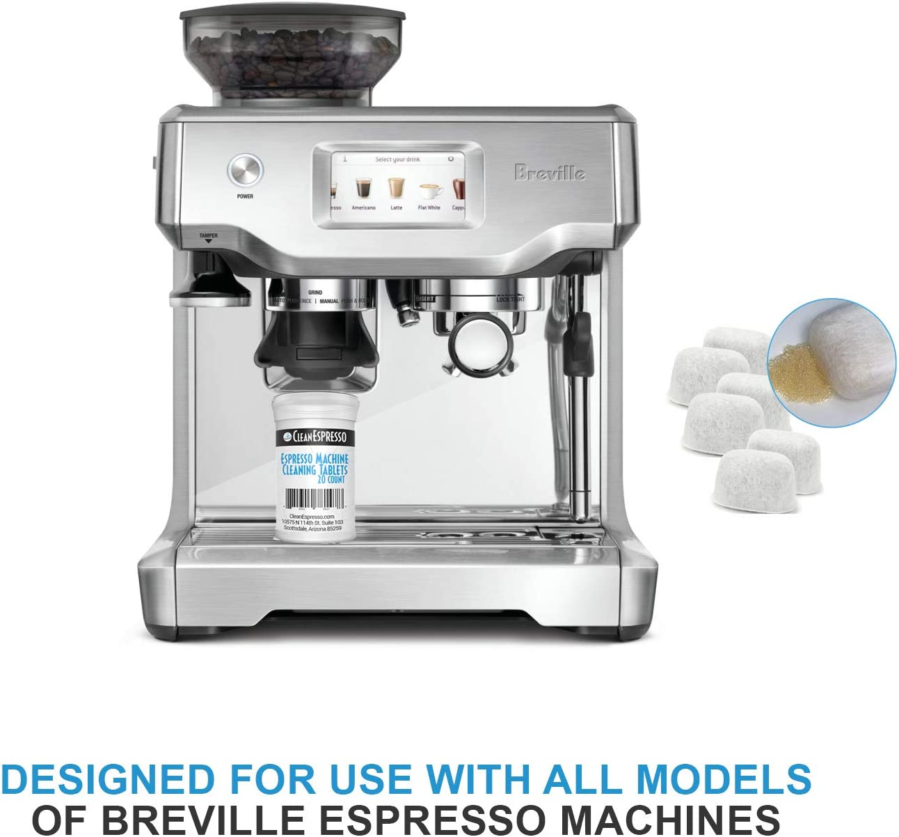 Amazon Com Breville Espresso Machine Cleaning Tablets Ion Exchange Resin Water Filter Breville Espresso Machine Accessories 20 Tablets 6 Ion Resin Filters Health Personal Care