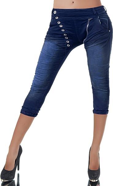 Kleidung & Accessoires Hosen Damen Boyfriend Capri Jeans 34