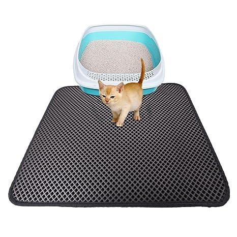 Alfombra Yunt para la bandeja de arena para gatos. Alfombra antideslizante e impermeable de doble