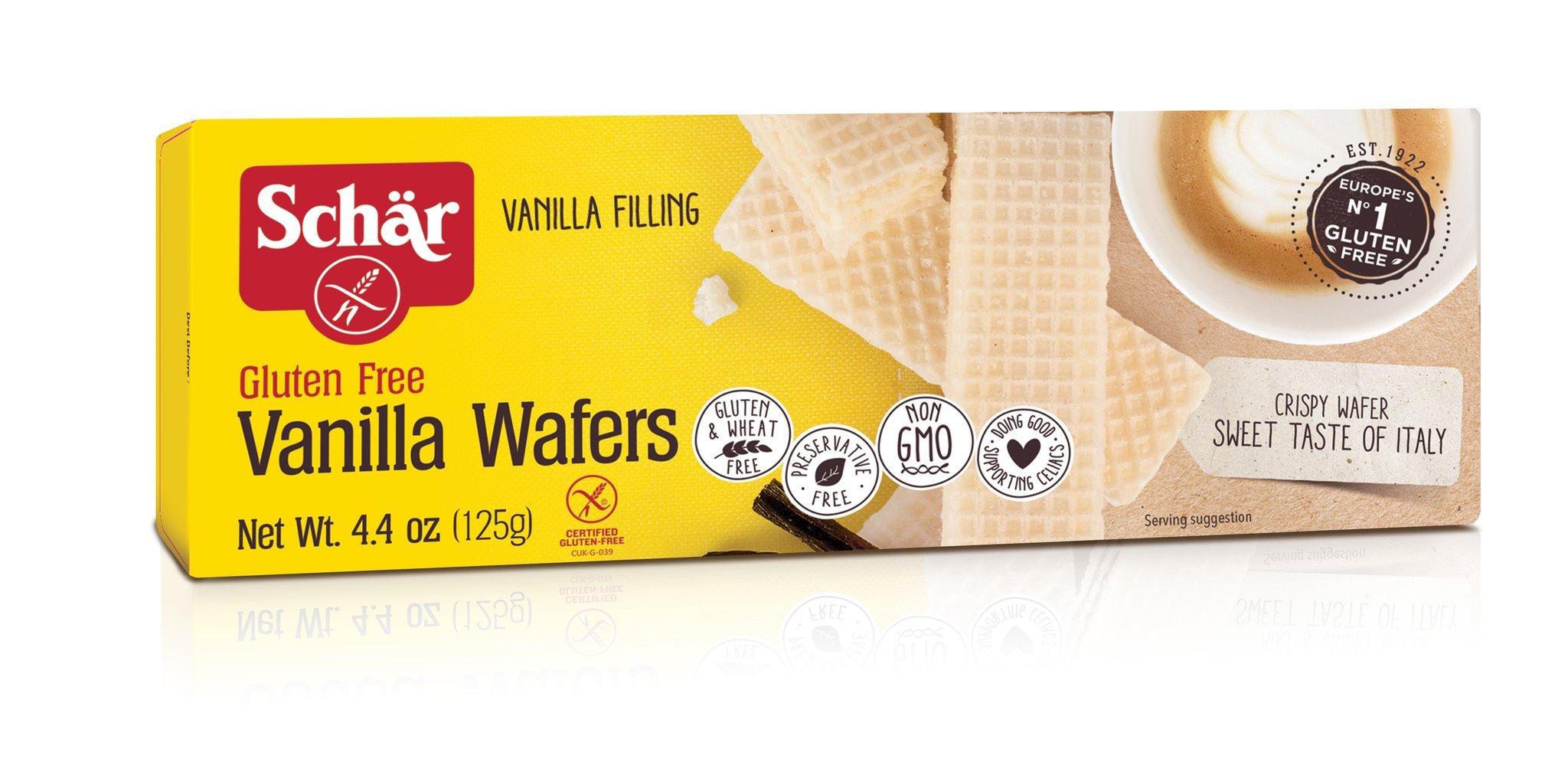 Schar Vanilla Wafers, Gluten Free, 4.4-ounces (Pack of 6) by Schar