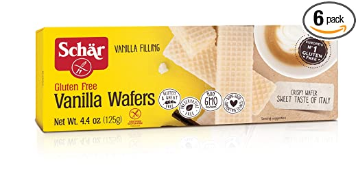 Schar Vanilla Wafers, Gluten Free, 4.4-ounces (Pack of 6)