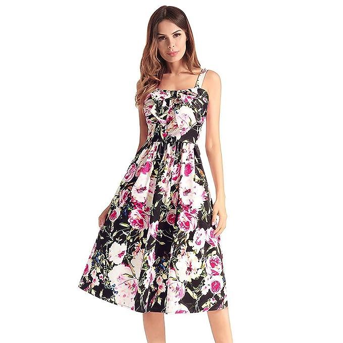 Haoduoliao Mujer Vestidos Verano Corto Vestido con Mangas Grandes Vestidos De Péndulo Y Cuadros Cuadros Vestidos