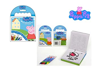Peppa Pig Carry Along Colouring Book With Crayons