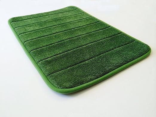 24''x17'' Beige MicroPlush Comfort Luxurious Anti Skid Foam Bath