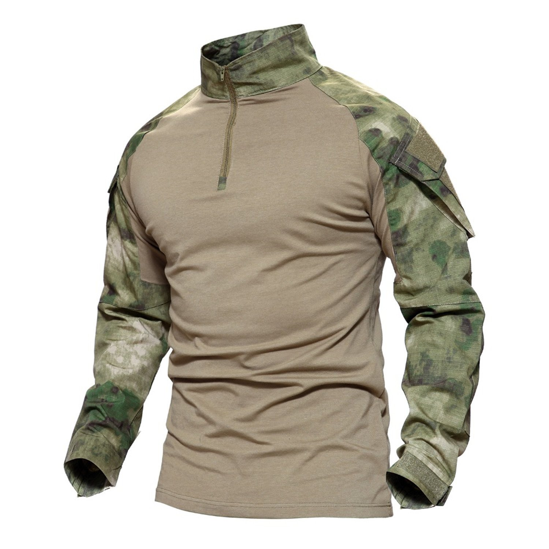 - Janice Davis Army Camouflage Combat Tactical Tactical Tactical T Shirt Military Men Long Sleeve T-Shirt Hunt T-Shirts ACU L 43449e