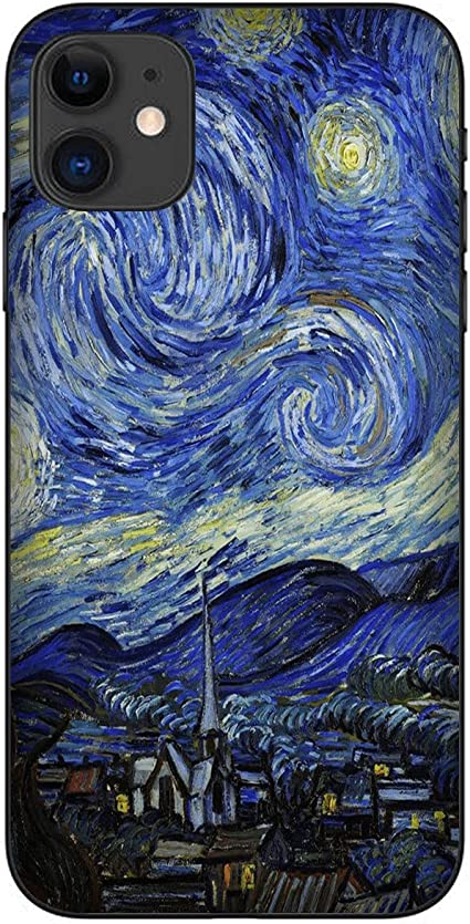 Cover Custodia Compatibile per Apple iPhone 11 Vincent Van Gogh Notte Stellata. Night Star/Gel in Silicone Morbido TPU/Phone Hard Snap on Anti-Slip ...