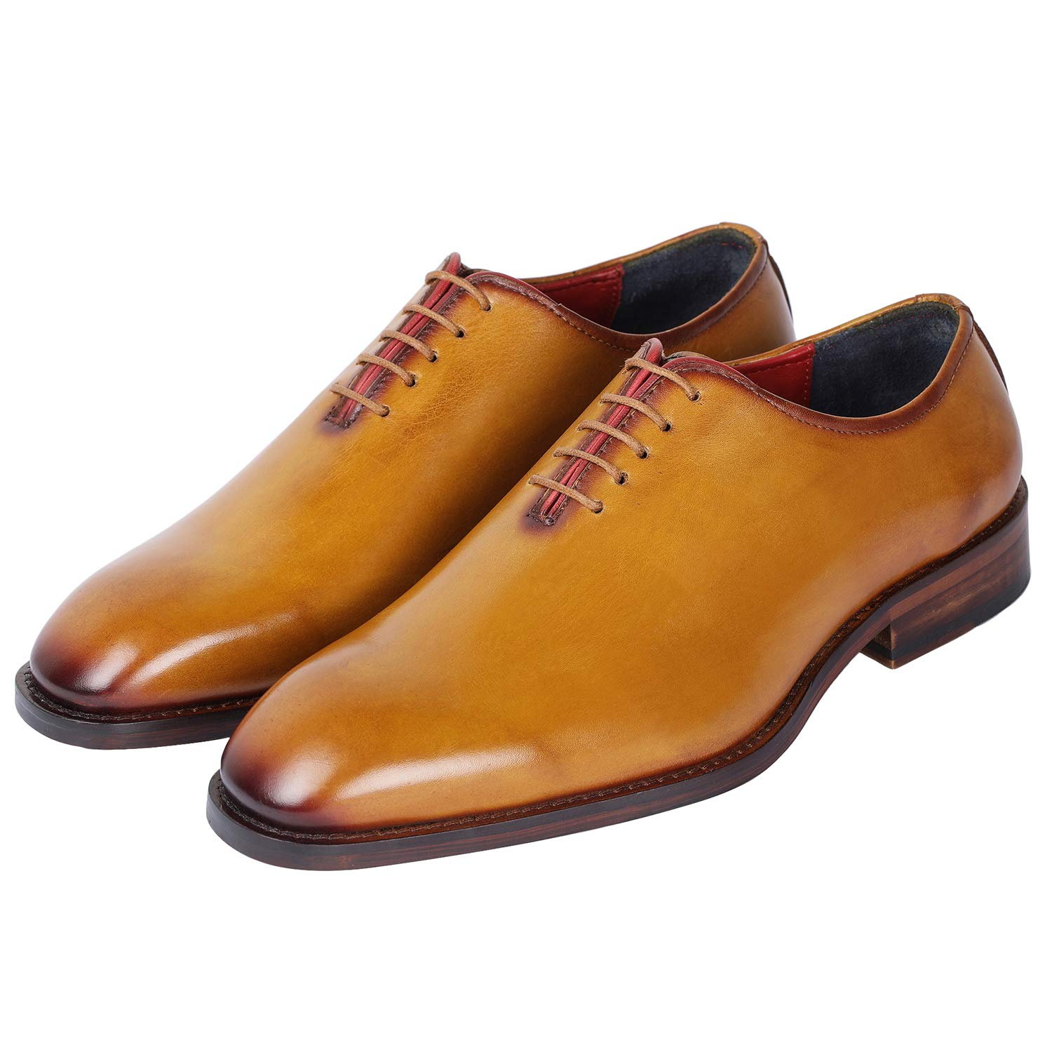 3fd71d3d0589b golden-1 Lethato Handcrafted Wholecut Oxford Men's Genuine Leather ...