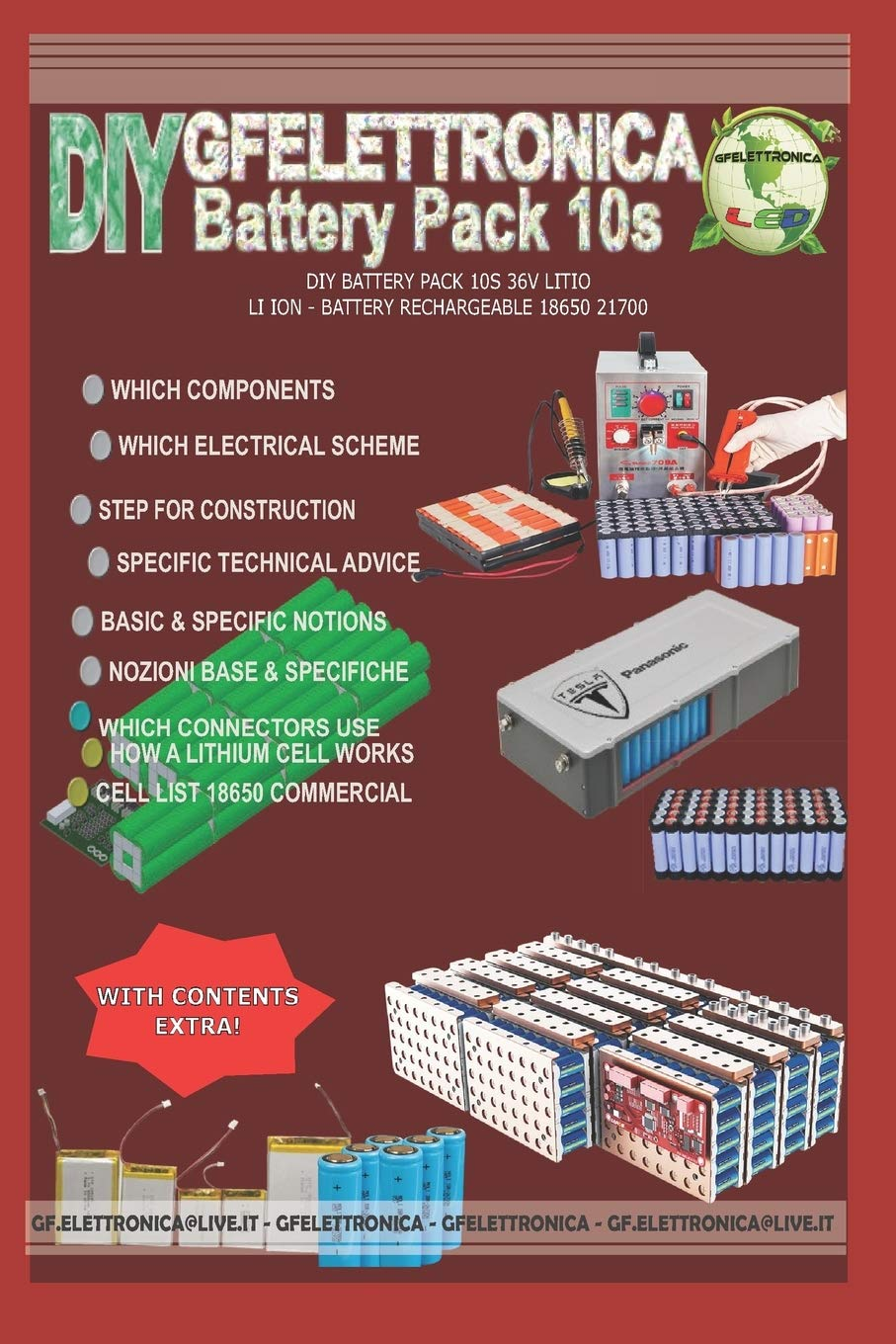 DIY BATTERY PACK 10S 36V LITIO - LI ION - BATTERY RECHARGEABLE ...