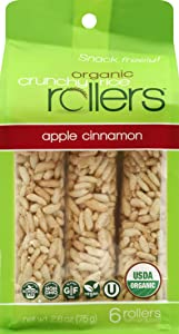 CRUNCHY ROLLERS Organic Apple Cinnamon Rice Rollers 6 Count, 2.6 OZ