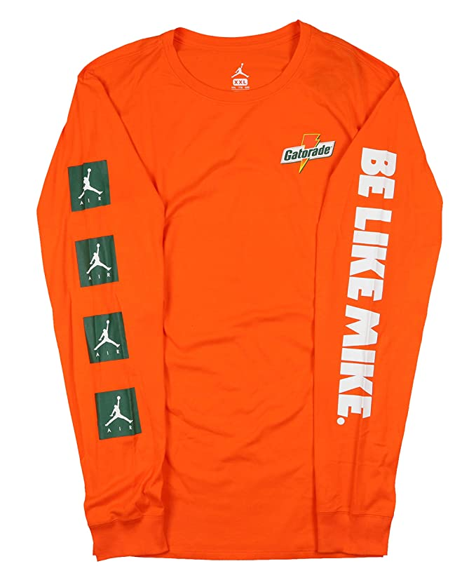 7fd53438a8d1bc Amazon.com  Jordan Men s Be Like Mike Gatorade Long Sleeve Shirt XXX-Large  Orange  Clothing