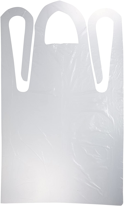 28 Width x 46 Height Case of 1000 White Keystone AP-PE-2846REGWT 1Mil Regular Polyethylene Apron