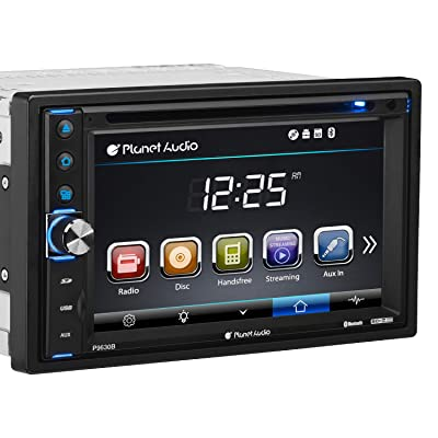Planet Audio P9630B Car DVD Player - Double Din, Bluetooth Audio and Hands-Free Calling, 6.2 Inch LCD Touchscreen Monitor, MP3 Player, CD, DVD, WMA, USB, SD, AUX In, AM/FM Radio Receiver: Car Electronics