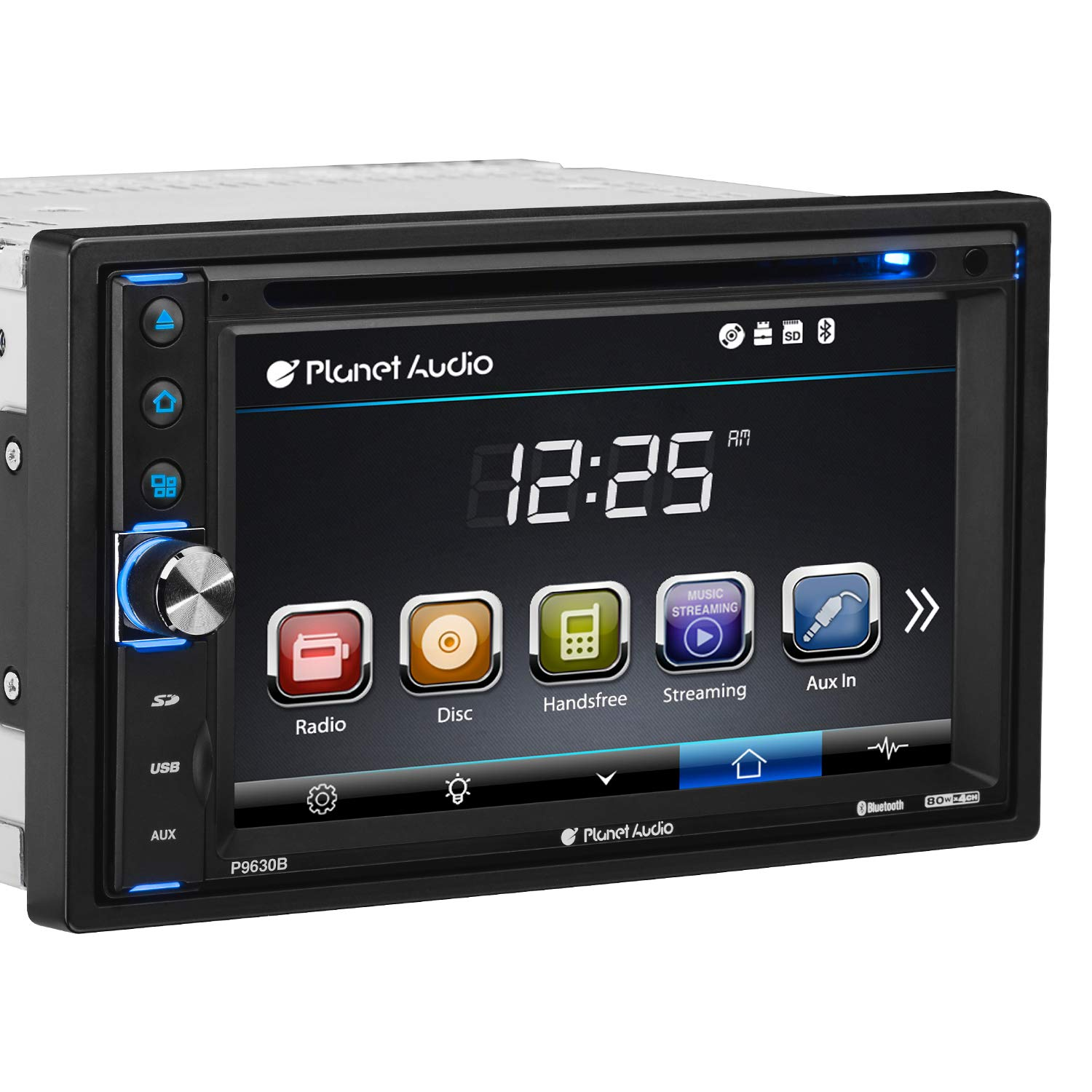 Planet Audio P9630B Double Din, Touchscreen, Bluetooth, DVD/CD/MP3/USB/SD AM/FM Car Stereo, 6.2 Inch Digital LCD Monitor, Wireless Remote by BOSS Audio Systems