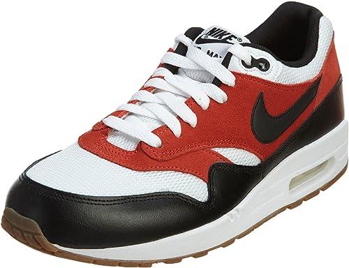 Nike Men's Air Max 1 Essential RedBlackWhite 537383 122