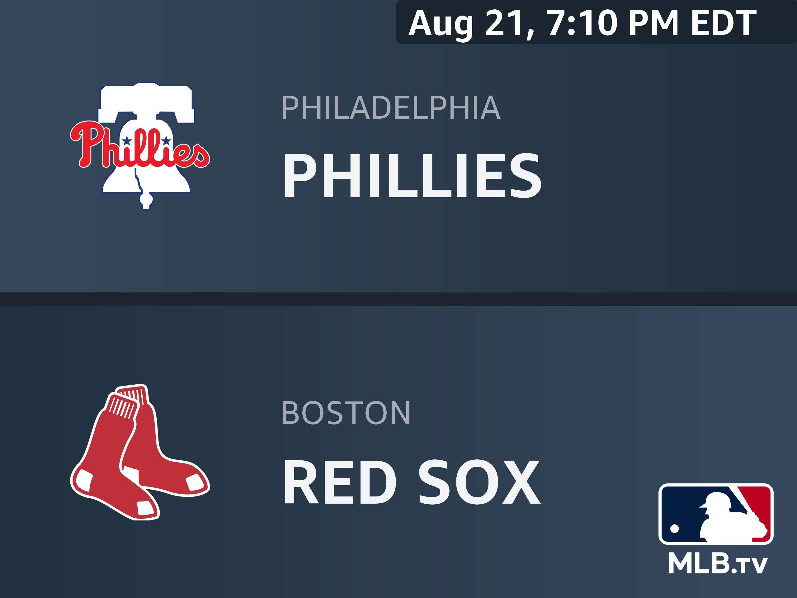 Amazon.com: Philadelphia Phillies at Boston Red Sox
