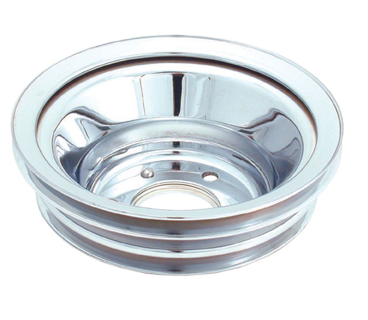 Spectre Performance 4508 Chrome Triple Belt Crankshaft Pulley for Big Block Chevy with Long Water Pump SPE-4508
