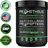 Prometheus Wellness Multi-Collagen PRO Collagen Peptides Pure Hydrolyzed Protein Powder 16oz Unflavored All-In-One Type I, II, III, V and X Premium High Quality Food Source Amino Acids Non-GMO GMP USA